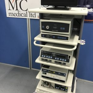 Arthrex Arthroscopic system inc 1ccd camera 100w xenon lightsource OPES electrosurgical Unit Duel Shaver System and fluid pump monitor and trolley mc medical mike craven medical medical devices medical equipment used medical second hand medical medical components medical spares medical parts