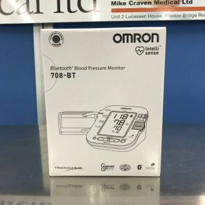 Omron 708-BT Bluetooth blood pressure monitor mc medical mike craven medical medical devices medical equipment used medical second hand medical medical components medical spares medical parts